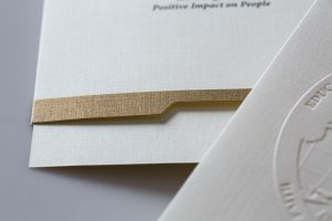 emboss | metallic ink | die cut