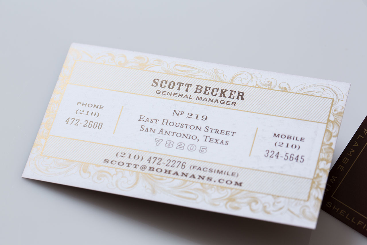 Metallic Ink and Business Cards - Print Gallery | SmithPrint, Inc.